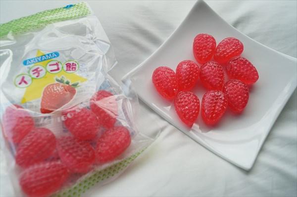 秋山製菓のイチゴ飴